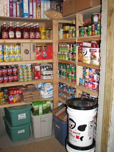 Well Stocked Basement Pantry Food Storage Preparedness