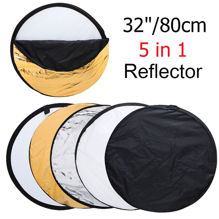 "32"" 80cm 5 in 1 New Portable Collapsible Light Round Photography/Photo Reflector for Studio //Price: $17.82      #shopping"