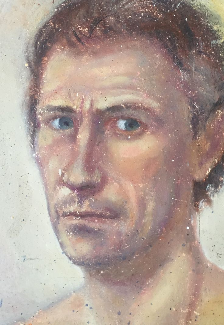 Self  Portrait , before the age of forty,  oil on panel Andrew McLean.