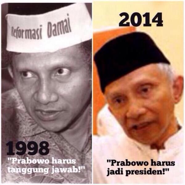 Amien Rais 1998, Amien Rais 2014...