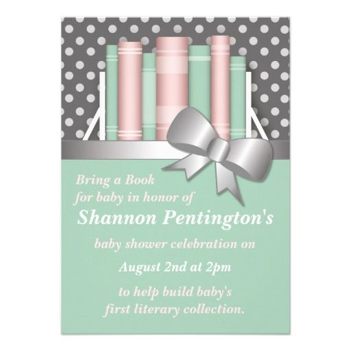 17 Best Images About Book Themed Baby Shower Invitations