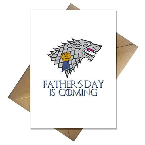 Funny Game of Thrones Fathers Day Card Father's Day is