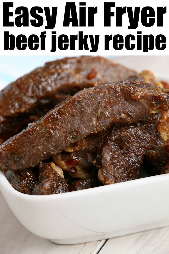 Best Air Fryer Beef Jerky Is Here Ready To Make Tender Beef In Your Ninja Foodi Or Electric In 2020 Air Fryer Recipes Easy Air Fryer Recipes Air Fryer Dinner Recipes