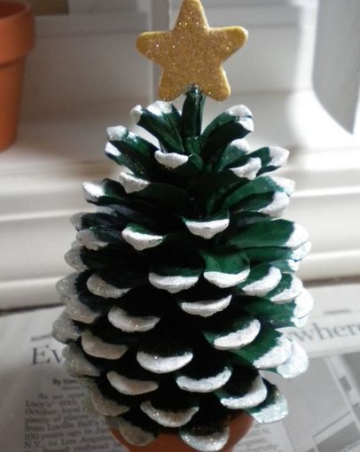 Handmade Christmas Decorations - Pine Cone Christmas Tree - Click pic for 25 DIY Christmas Crafts