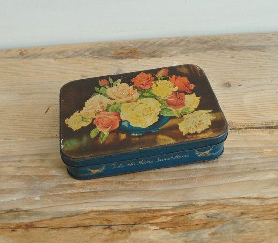 25 Best Vintage Tin Boxes Images On Pinterest Tin Boxes