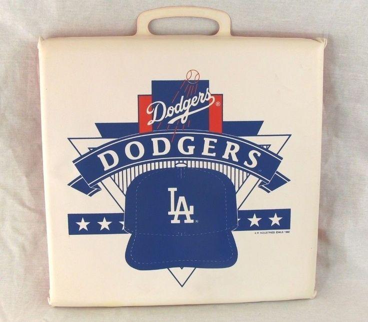 Los Angeles Dodgers Seat Cushion Vintage 1992 MLB Bleacher Pad Baseball 14x15 LA #LosAngelesDodgers
