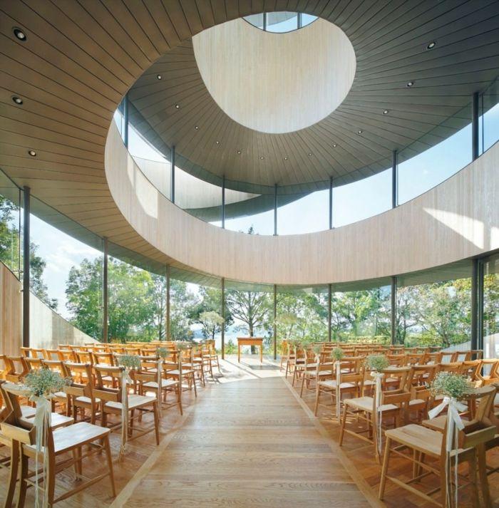 ribbon chapel hiroshi nakamura japan architektur rund organisch
