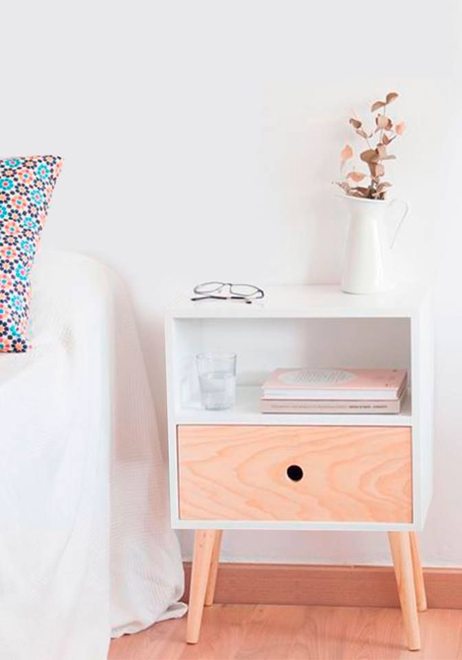 Nochero Luna Ideal Para Decorar Tu Habitación En Color