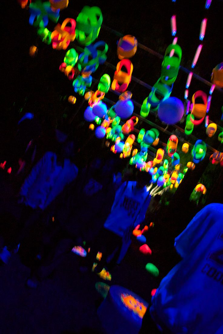 Glow in the dark water balloons - The Festival Of Lights Pukekura Park New Plymouth New Zealand