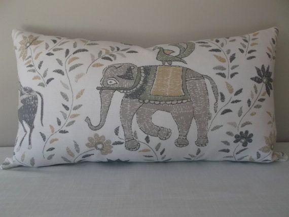 this john robshaw grey and taupe mahout decorative pillow cover by duralee is the