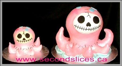 Custom Birthday Cakes- Octopus 1st birthday + smash cake