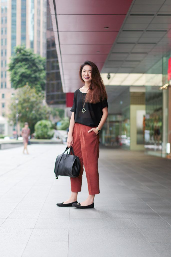 SHENTONISTA: In Secret. Sophia, Student. Top from The Tinsel Rack, Pants from Uniqlo, Shoes from New Look, Earrings from Lovisa. #shentonista #theuniform #singapore #fashion #streetystyle #style #ootd #sgootd #ootdsg #wiwt #popular #people #male #female #womenswear #menswear #sgstyle #cbd #TheTinselRack #Uniqlo #NewLook #Lovisa