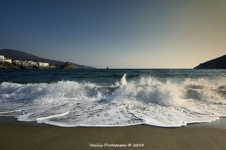 Paraporti beach in Andros island of Cyclades - Greece