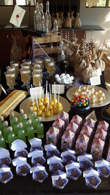 Harry Potter Party Eats & Treats Table