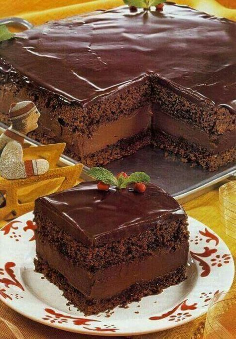Mocha chocolate layer cake recipe