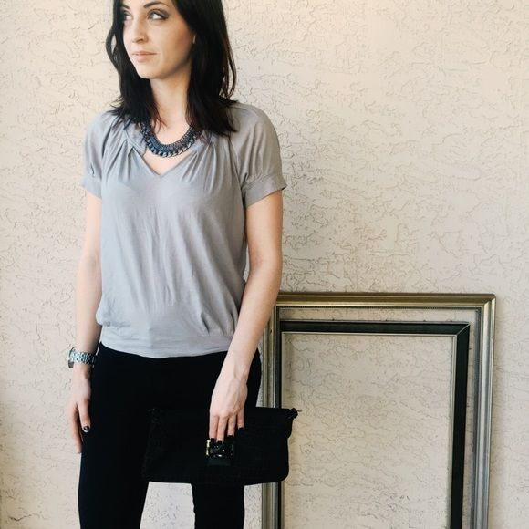 Theory grey short sleeve top Theory grey short sleeve top. Perfect basic top to add with any outfit. Theory Tops Tees - Short Sleeve