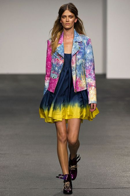 Catching up on shows...AND HELLO @henryholland tie-dye leather jacket!!!! luhhhve this: Holland Ss13, Holland Spring, 2013 Rtw, Lfw Ss13, House Of Holland, Ties Dyes, Spring 2013, London House, London Fashion Weeks