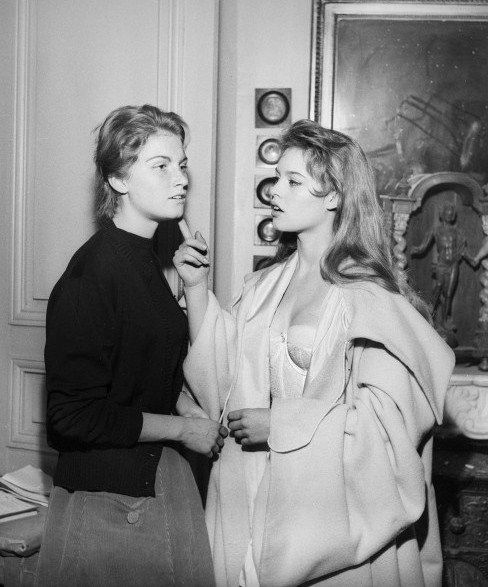 "gatabella: "" Brigitte Bardot with her sister Mijanou """