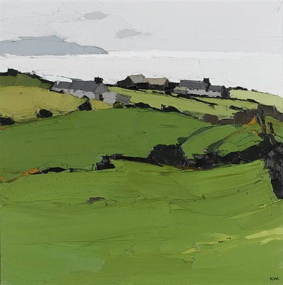 Sir Kyffin Williams (1918 to 2006) Welsh landscape painter                                                                                                                                                     More