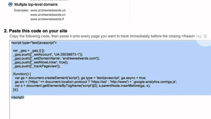 Google Analytics Account Set Up