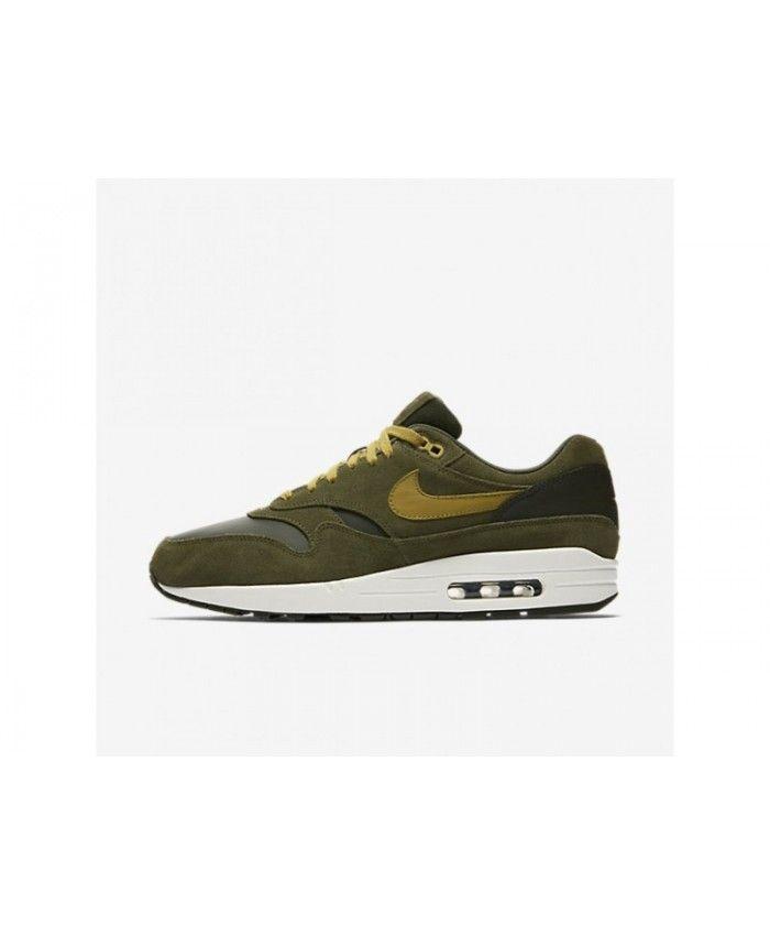 a91d7fa75b Top Nike Air Max 1 Premium Men's Sequoia/Cargo Khaki/Sail/Desert Moss Shoes,  AH9902-300
