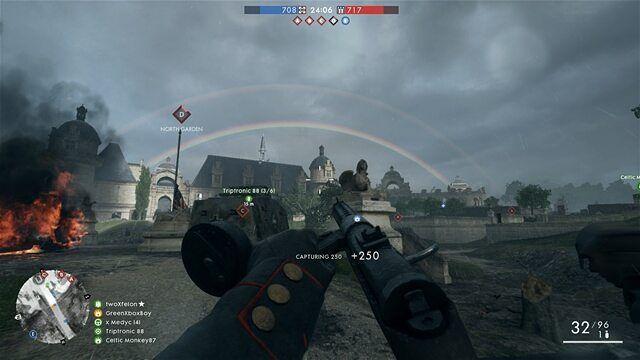 Ermahgerd it's a double rainbow.... a double freaking rainbow  Ha ha ha  #battlefield #battlefield1 #conquest #greenxboxboy #xbox #xboxone #xboxlive #ea #dice #eaaccess #doublerainbow #ermahgerd