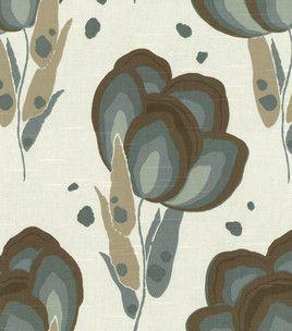 Home Decor Fabric-Annie Selke Happy Poppys SlateDining Room, Selk Happy, Decor Fabrics Annie, Poppies Slate, Happy Poppies, Living Room, Colors Palettes, Home Decor, Fabrics Annie Selk