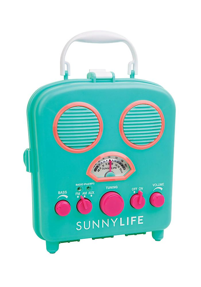 SunnyLife Turquoise Beach Sounds Speaker  - Home