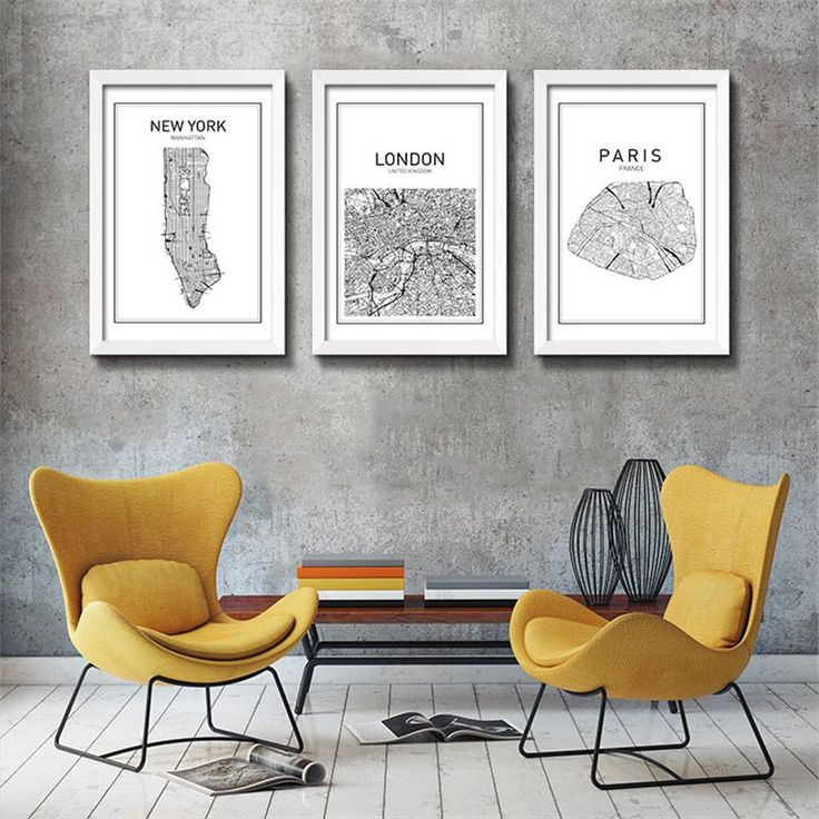 Cheap Painting Poster Buy Quality Wall Pictures Directly From China Picture For Home Suppliers Black White Art Map World City Canvas