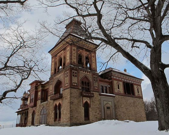 """NY Social Diary - """"Big Old Houses"""" - Persia on the Mountaintop #olana #hudson #hudsonvalley #museum"""
