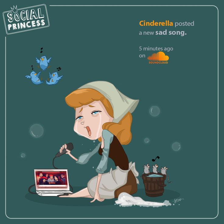 #Cinderella posted a new sad song. 5 minutes ago, on #soundcloud.