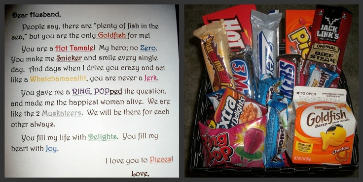 My version of a valentine's present for him <3  It made him laugh and he liked it!!!