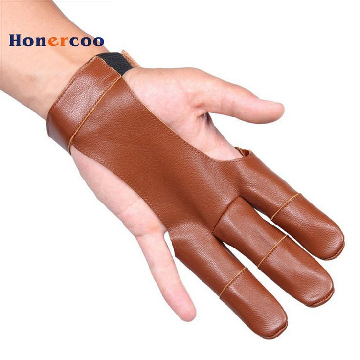 Archery 3 Finger Guard Protective Glove with sheep Leather Finger Tab Protector for Recurve Longbow Shooting