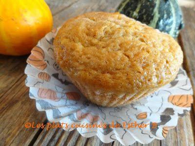 Les plats cuisinés de Esther B: Muffins à la citrouille