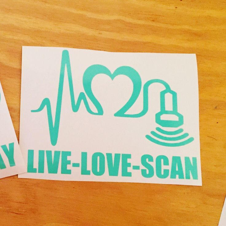 Live love scan ultrasound tech decal