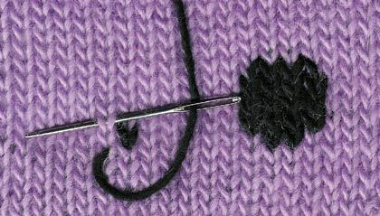 Embroidery on knitting - Learning to knit: basics, stitches and beginner friendly patterns