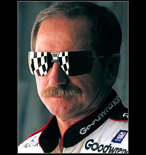 PICTURES OF #3 DALE EARHARDT CARS | Now thats a mustache you can set your watch to.