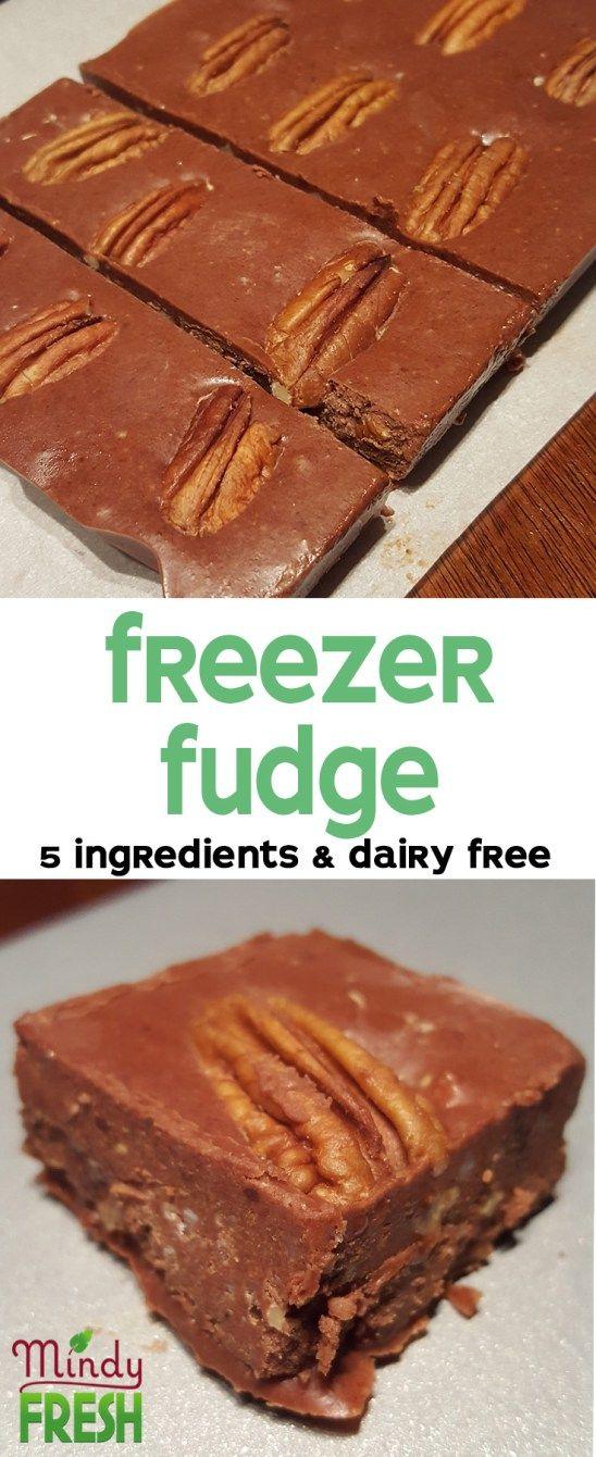 Freezer fudge recipe with coconut oil, cocoa powder, almond butter, honey and vanilla.