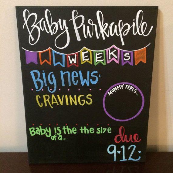 Weekly pregnancy Chalkboard / weeks pregnancy by SweetChalking