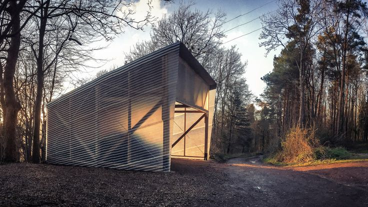 Invisible Studio builds fibreglass prototyping workshop at its growing woodland campus