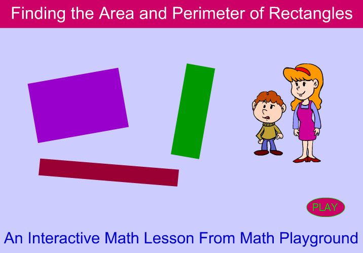 Math Playground – Finding the Area and Perimeter of Rectangles