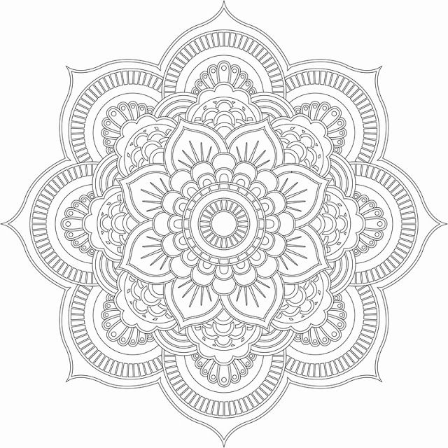 453 Best Advanced Coloring Pages Mandalas Images On Pinterest