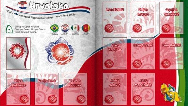 Pagina da Seleção Croata.