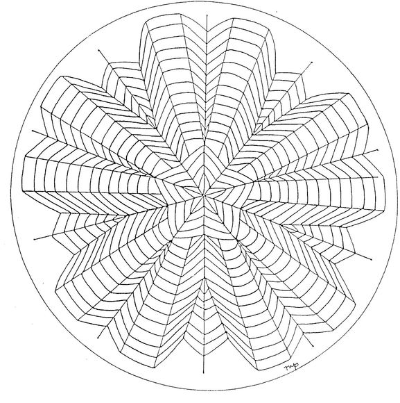 5 Point Star Mandala Coloring page