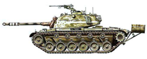 M-48, 6ª División Blindada, 25º de Caballería, Escuadrón C, Ejército de Pakistán, Guerra Indo-Pakistaní, 1965. Pin by Paolo Marzioli