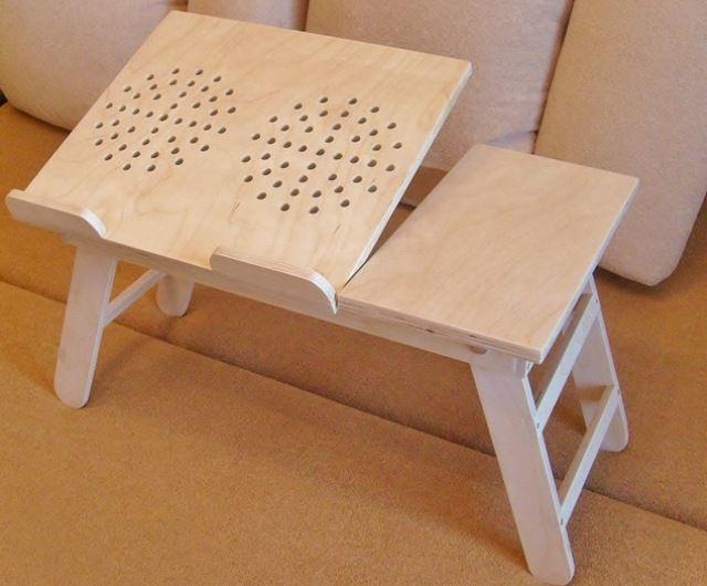 Подставки и столики для ноутбука — идеи для создания своими руками