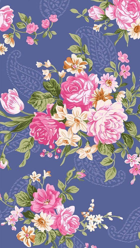 flores azul rosa plano de fundo