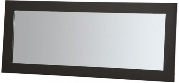 PLATEAU SL-MIR 44 x 20 B Wood Mirror, 44 by 20-Inch, Black Satin Paint Finish. Superior Modern Styling. Rich Black (B) satin finish. High quality safety glass shelves with polished edges. Black Glass available on All Models. Matching tables and mirror.