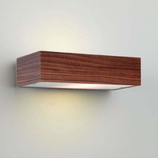 Buy this Astro Lighting Manerbio Rectangular Wall Light in a Walnut finish and Frosted Glass Diffuser AX0400 online from Sparks Direct at our low price of £67.97. Archway, London UK.
