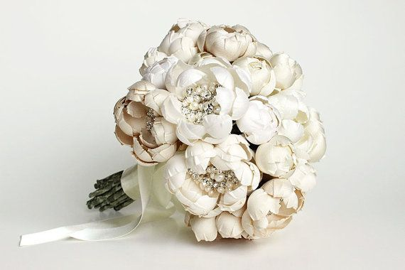Petite Couture Silk Fabric Flower Crystal and Pearl by EmiciLivet